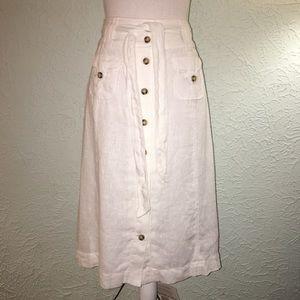 SOFT SURROUNDING Sz PS White Linen Skirt